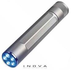 X5 - Torcia in alluminio aeronautico con 5 LED blu
