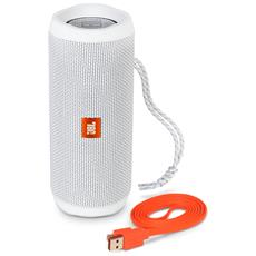 Speaker Wireless Portatile Flip 4 Bluetooth Colore Bianco