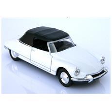 Ds 19 Cabrio Bianca Chiusa Modellino Metallo C / molla Richiamo - Cm 12x4,5x4 1:32 Per Bambini