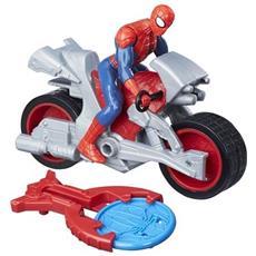 Personaggio Spiderman Blast N Go con Veicolo
