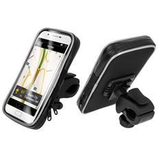 "Supporto Bici / Moto Bigben Waterproof Nero Smartphone 3.5"""" A 5.5"""" Rotante 360°"