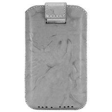 Funda de cuero para Apple iPhone 4, gris