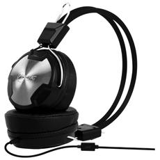 P402 Cuffie con Microfono In-Line 3.5 mm - Nero / Metallico