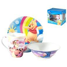 Confezione 3 Pezzi Prima Colazione Disney Winnie Prima Colazione