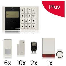Kit Plus Antifurto Allarme Casa Kit Gsm Wireless Senza Fili Con Sirena Esterna Wireless Ad Energia Solare Controllabile Da Cellulare Con Apposita Colore Bianco