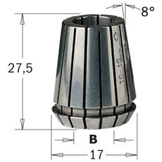 "Pinza Elastica """"er-16"""" (mm17x27.5) D=4mm 184.040.16"