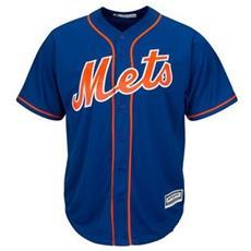 Jersey Mlb Majestic Replica 2 New York Mets Medium
