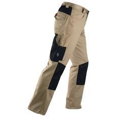 Pantalone da Lavoro Multitasche Kavir Tg. M Colore Beige / Nero