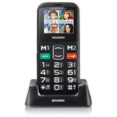 """Amico Sicuro Senior Phone Display 1.77"""" Micro SD Bluetooth con Tasti Grandi + SOS Fotocamera Colore Nero RICONDIZIONATO"""