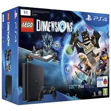 Console Playstation 4 1 Tb Slim + Lego Dimensions Start Pack Limited Bundle RICONDIZIONATO