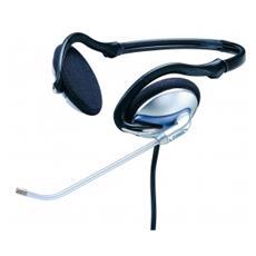 Cuffie con Microfono Pieghevole 3.5mm - Nero / Argento