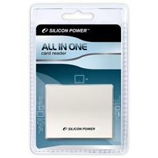 ALL IN ONE Card Reader, CF, Memory Stick (MS) , microSDHC, miniSD, MMC, MMCmicro, MS Duo, MS PRO, MS PRO Duo, SD, SDHC, xD, 480 Mbit / s, 0 - 55 C, -20 - 70 C, Bianco, 7,45 cm