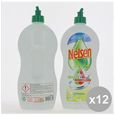 Set 12 Piatti 900 Ml. Limone Detergenti Casa