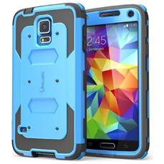 Cover Samsung Galaxy S5 - Custodia Armatura A Doppio Strato Protezione Completa Con Cover Fronte E Protezione Salvaschermo Integrata / Bumper Resistente Agli Urti (blue, Samsung Galaxy S5)