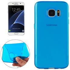 Custodia Cover Case Tpu Blu Trasparente Per Samsung Galaxy S7 G930