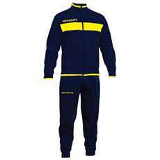 Tuta Drops Givova Completo Di Giacca Con Zip Manica Lunga E Pantalone Colore Blu / giallo Taglia 3xl