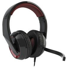 Cuffie con Microfono per Giochi PC Connessione Cavo Nera e Rossa 2.7 m