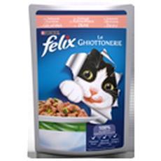Gatto, Le Ghiottonerie Con Salmone E Zucchine In Gelatina 100g