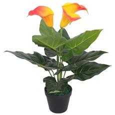 Calla Lily Artificiale Con Vaso 45 Cm Rosso E Giallo