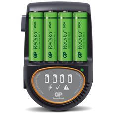 IC-GP202208 - Caricabatterie Rapido 4 AA / AAA con 4 batterie AA 2600mAh USB / Auto