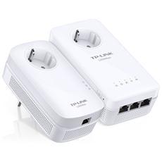 Powerline Gigabit TL-WPA8630P KIT Wi-Fi AC con Presa Passante 1200Mbps