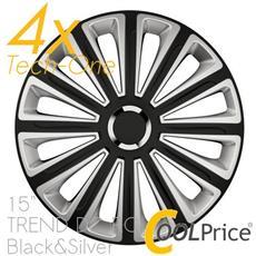 Copricerchi Auto Universali 15 Pollici Tech-one Trend Dc Rc Black Silver 31592