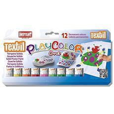 con. 12 tempera solida Playcolor Textil One 10g 10461