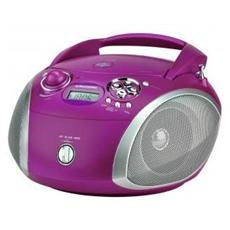 Radio Portatile con Lettore CD USB - Viola / Silver