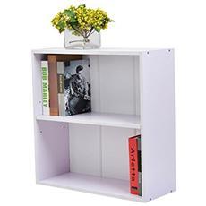 Libreria Mobile per Archiviazione con Mensola in Legno 60x24x63cm