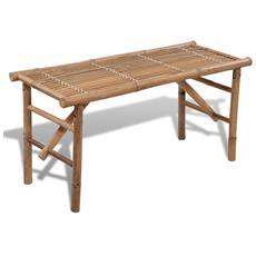 Panchina Pieghevole In Legno Di Bambù