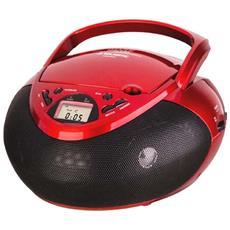 Radioregistratore C / Cd Aux Red / Black