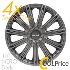 Copricerchi Auto Universali 14 Pollici Nero Tech-one Dark 31516