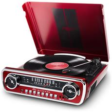 Mustang LP Belt-drive audio turntable Rosso