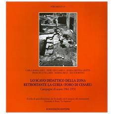 Scavo didattico della zona retrostante la curia (Foro di Cesare) . Campagna di scavo 1961-1970