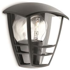 Creek - Lampada Da Parete Lanterna Luce Diffusa Alluminio Nero