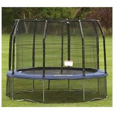 Jpdp08 trampolino tappeto elastico rete salti deluxe professional