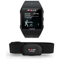 Sportwatch V800 Bluetooth con GPS per Attività Fisica e Cardiofrequenzimetro Resistente all'acqua 3ATM Nero