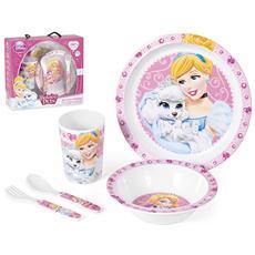 Confezione 5 Pezzi Bimbo Melamina Princess&pets Mondo Baby