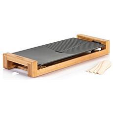 Griglia di Contatto da Tavolo Potenza 1800W Colore Nero e Legno