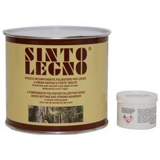 Sinto Legno - Mastice-stucco Per Legno Bicomponente Poliestere 750 Ml Noce Brianza