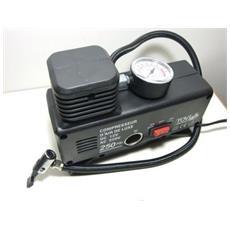 Mini Compressore Ad Aria Portatile Casa Viaggi Auto Hobbies Ac / dc 12v / 220w / 250ps