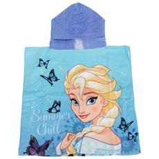 Frozen Ponchoasciugamano Con Elsa E Anna Bambini (taglia Unica) (blu)