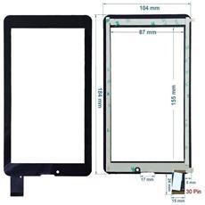 Ricambio Touch Screen Vetro Glass Nero Display Schermo Vetrino Per Majestic Tab-386 Hd 3g 7.0'' + Kit Attrezzi