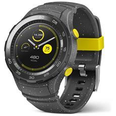 "Smartwatch Watch 2 Resistente all'acqua IP68 Display 1.2"" 4GB Bluetooth / Wi-Fi con NFC e GPS Grigio Cemento - Italia"