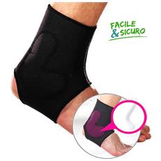 Protezione Caviglia Con Silicone 729 Ambidestro Fascia Supporto Elastica Tutore Fitness Neoprene