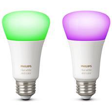 2 Lampadina LED HUE E27 bianco e colorato