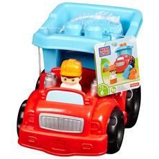 DYT58 - First Builders - Baby Veicolo Porta Mattoncini - Camion Ribaltabil