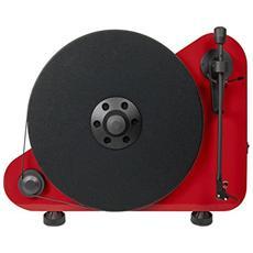Giradischi PVTEBTRR a Posizionamento Verticale Bluetooth RCA Colore Rosso