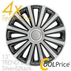 Copricerchi Auto Universali 13 Pollici Tech-one Trend Bicolour Silver Black 31570
