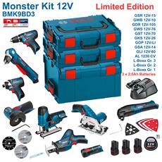 Bmk9bd3 (gsr 12v-15 + Gdr 12v-105 + Gks 12v-26 + Gws 12v-76 + Gst 12v-70 + Gop 12v-li + Gsa 12v-14 + Gwb 12v-10 + Gli 12v-80 + 3 X 2,0 Ah + Gal1230cv + L-boxx 238 + L-boxx 136 + L-boxx 102)